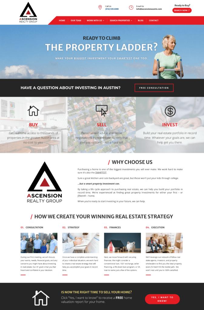 example of real estate website development
