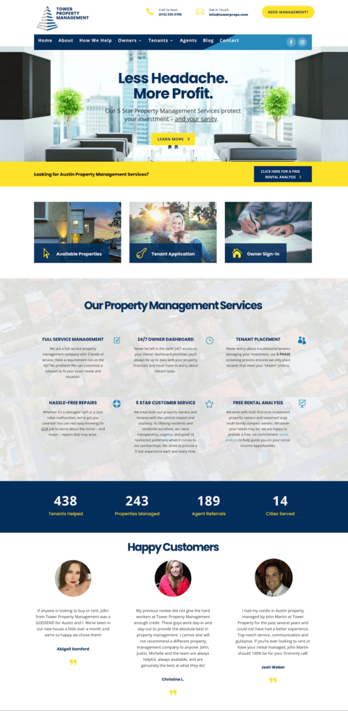 Example of a Real estate broker website development project
